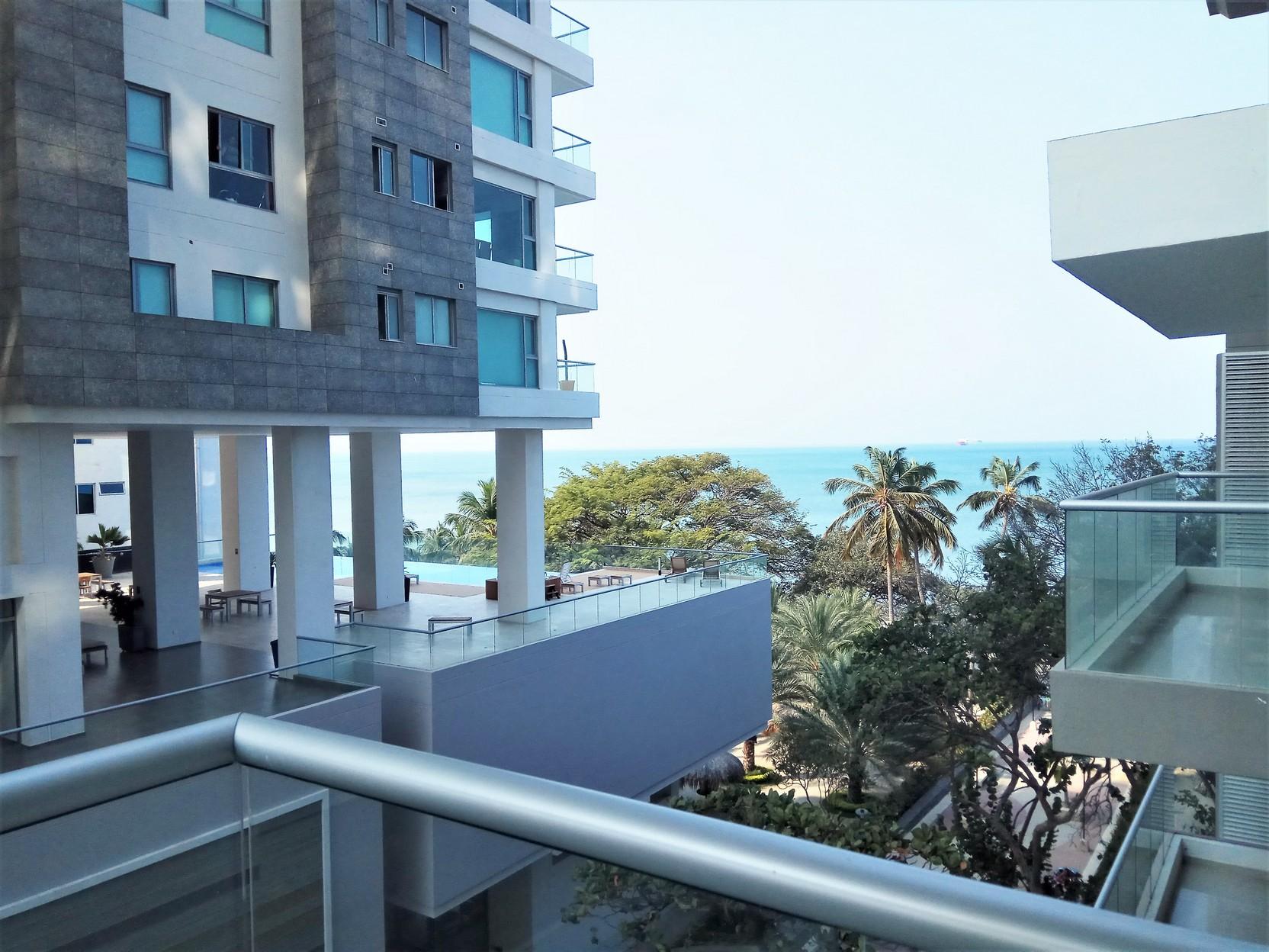 Apartamento con vsita al mar 2 habitaciones 2 baños -Salida directa al mar.